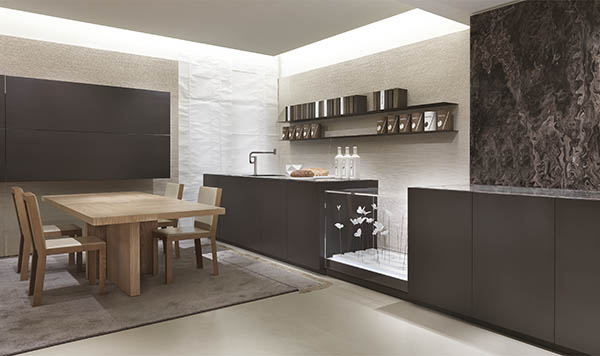 Laurameroni luxury modern made to measure bespoke modular kitchen for contemporary interior decor and design