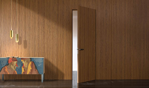 Laurameroni luxury modern integrated hinged doors for a bespoke artisanal interior design and decor