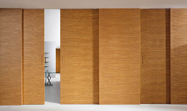 Laurameroni luxury modern integrated sliding doors for a bespoke artisanal interior design and decor