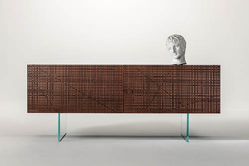 Luxury Maxima Sideboard for 20th Laurameroni anniversary with Liquid Metal finish