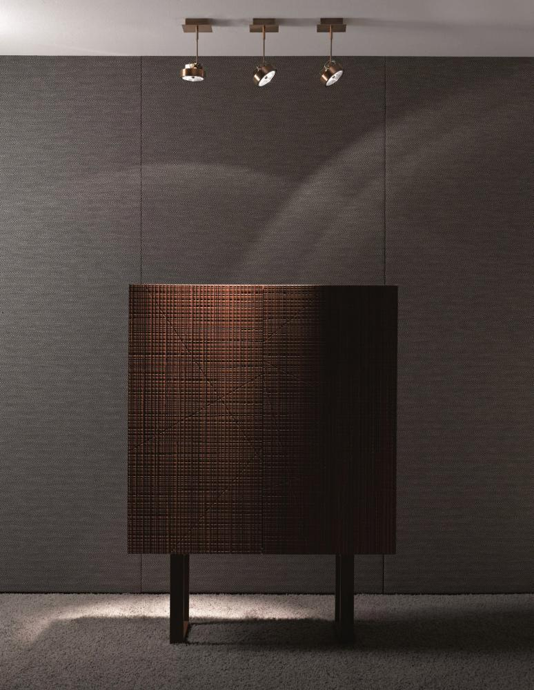 Work Light MA 01 is a spotlight in burnished brass