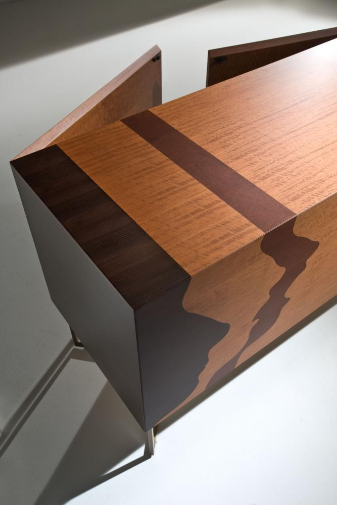Contemporary inlaid sideboard by Robert Hromec