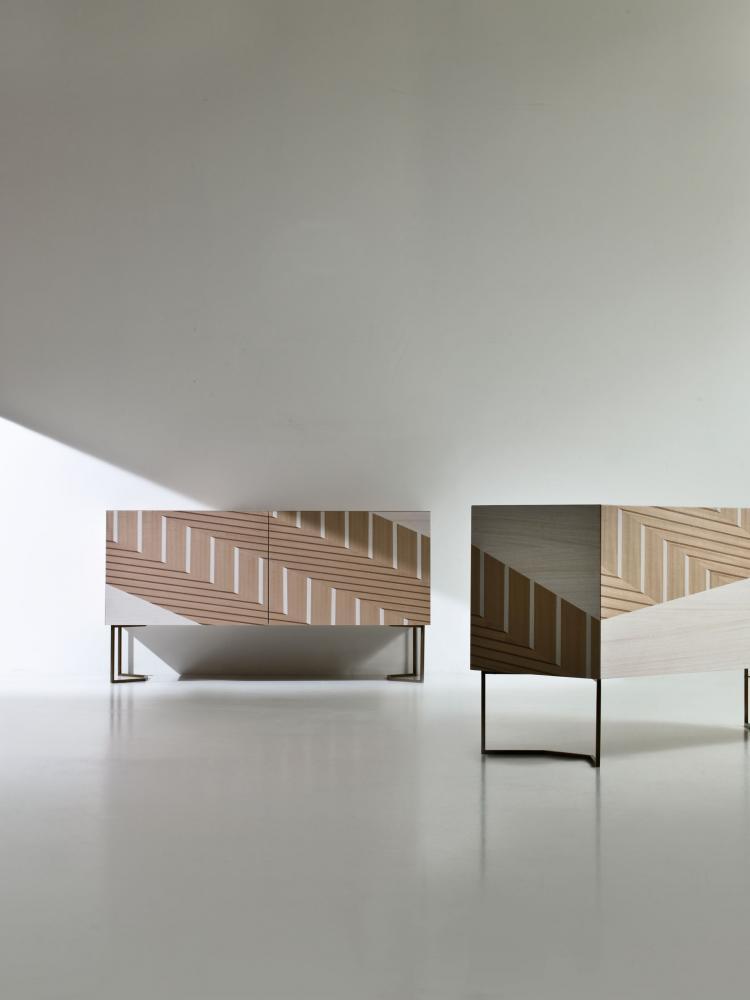 Contemporary inlaid sideboard by Bartoli Design