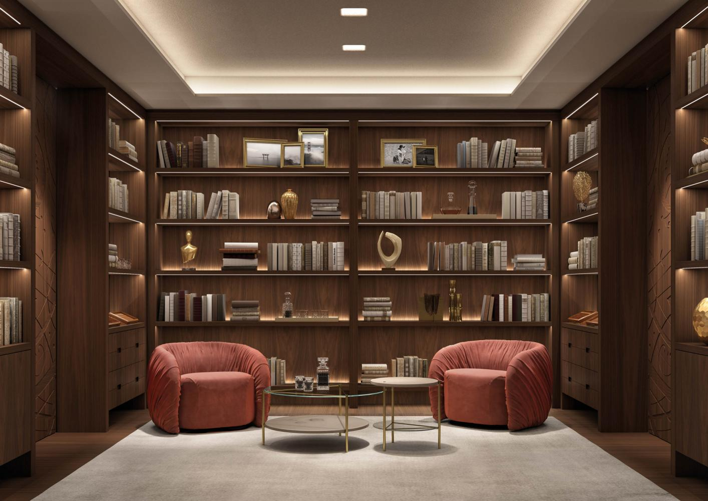 laurameroni graffiti day system in wood for luxury livingroom interior design