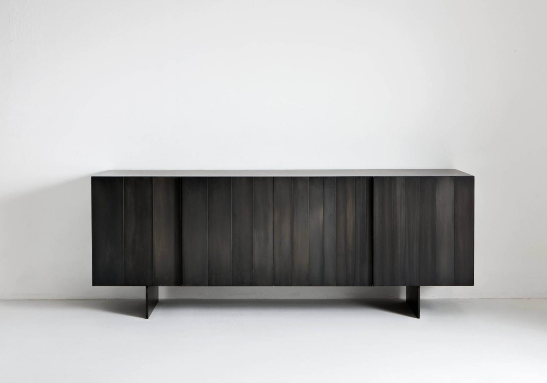 Black iron cenere sideboard for luxury materials interior design decor