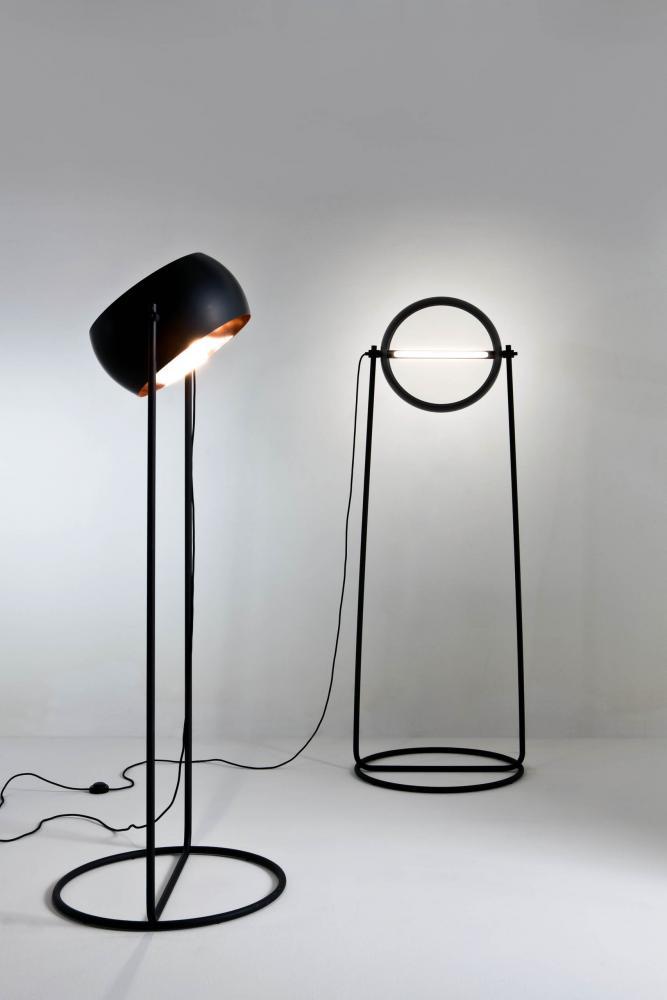 Black table or floor lamp for luxury materials interior design decor