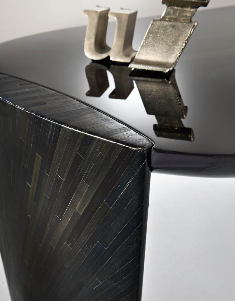 Black wood for luxury materials interior design decor
