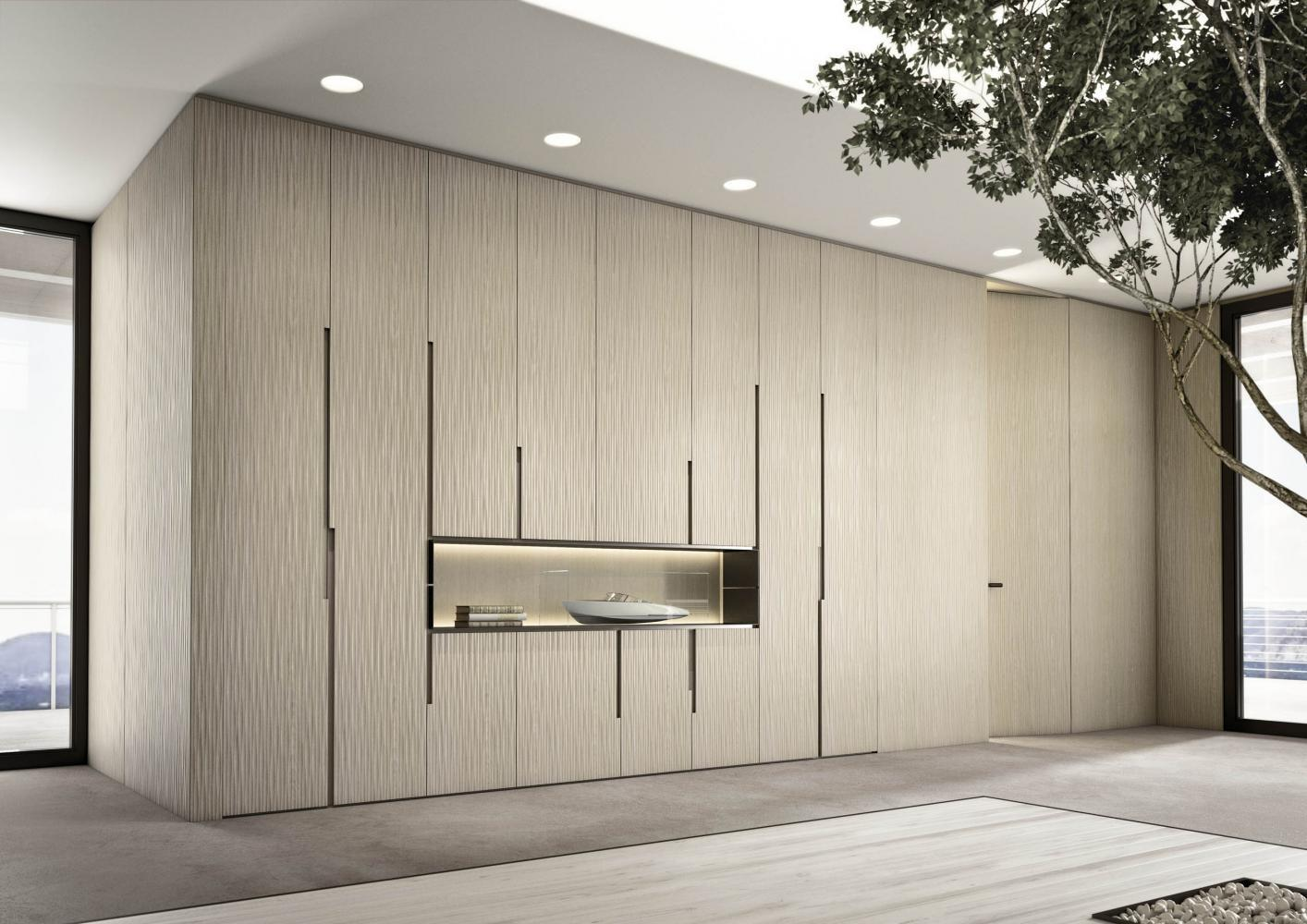 Laurameroni luxury modern made to measure bespoke wardrobes cabinets and shelving day systems for contemporary livingroom interior decor and design