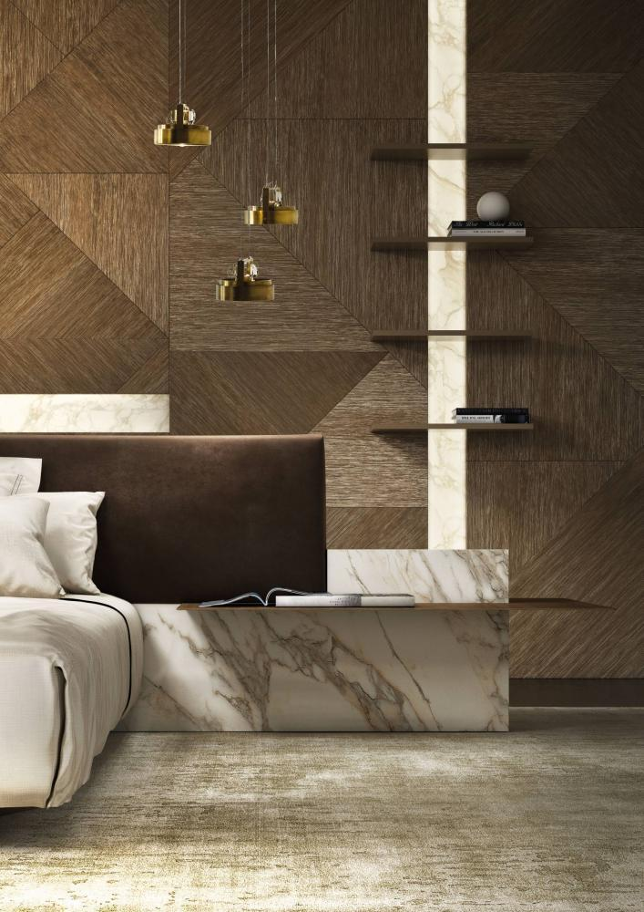 Laurameroni luxury modern integrated wall panels for a bespoke artisanal interior design and decor