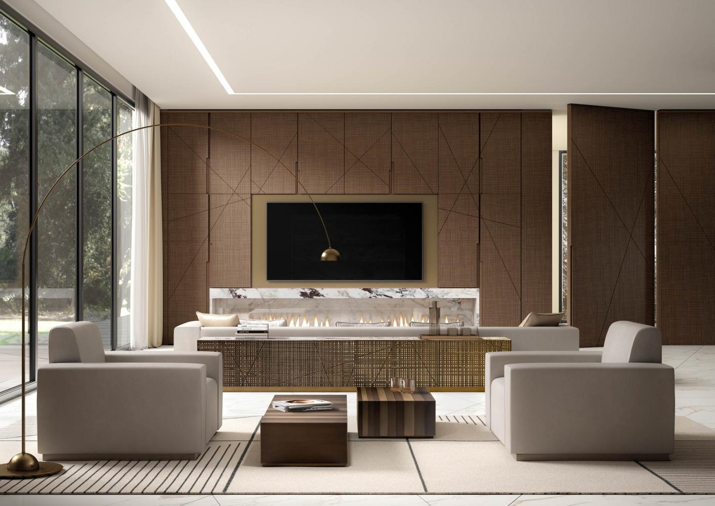 Laurameroni luxury modern made to measure bespoke freestanding furniture for contemporary livingroom interior decor and design