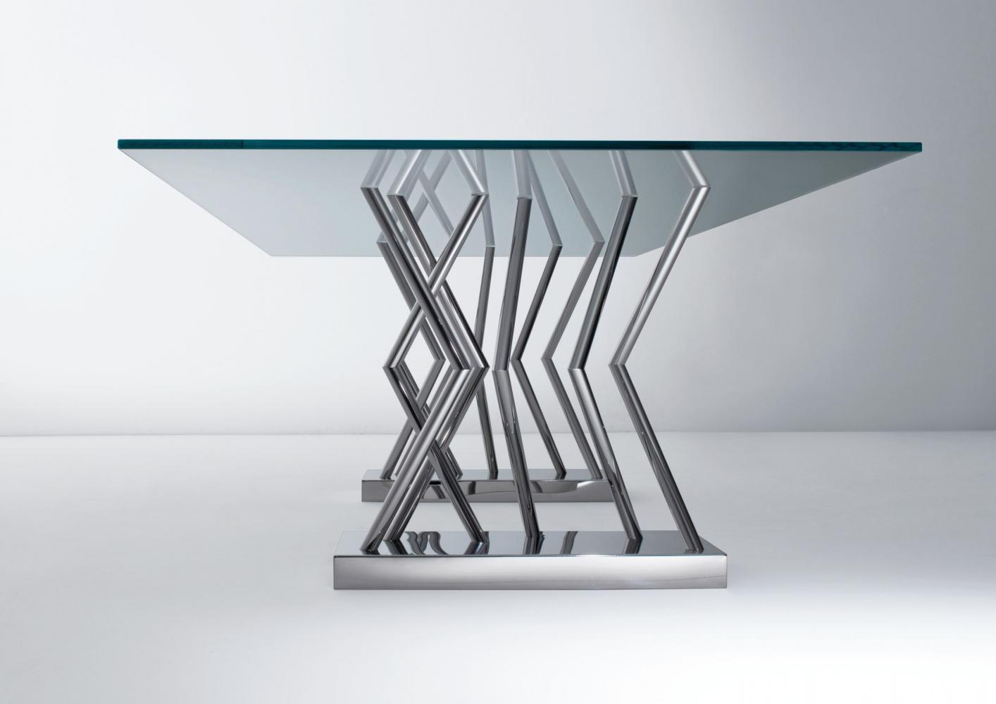Laurameroni luxury modern made to measure glass or crystal tables for contemporary interior decor and design