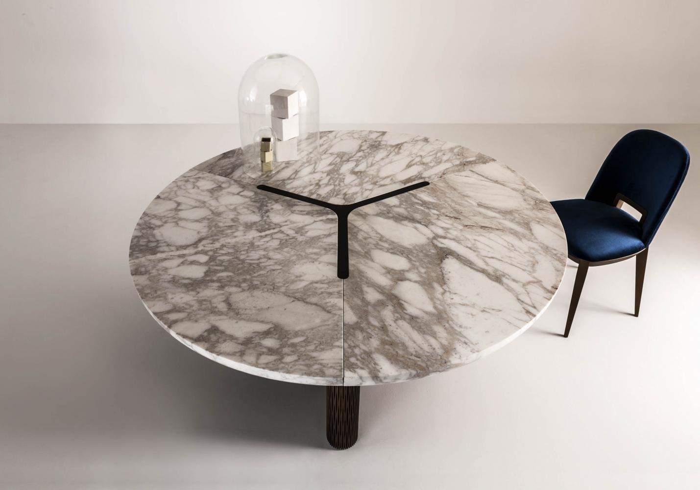 laurameroni luxury modern marble table for contemporary interior design and decor