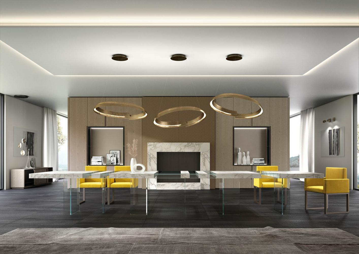 Laurameroni luxury modern made to measure bespoke rectangular, squared tables for contemporary interior decor and design