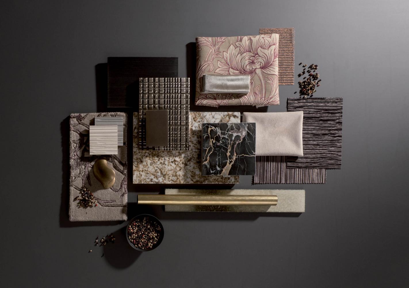laurameroni materials moodboard for interior design decoration