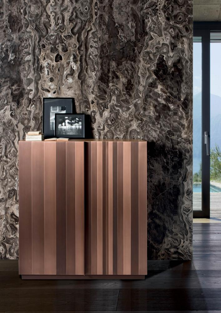 Laurameroni luxury modern artisanal metal sideboards and drawers for contemporary interior decor and design