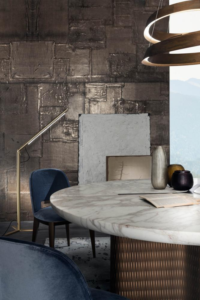 Laurameroni luxury modern made to measure bespoke rounded, elliptical, oval tables for contemporary interior decor and design