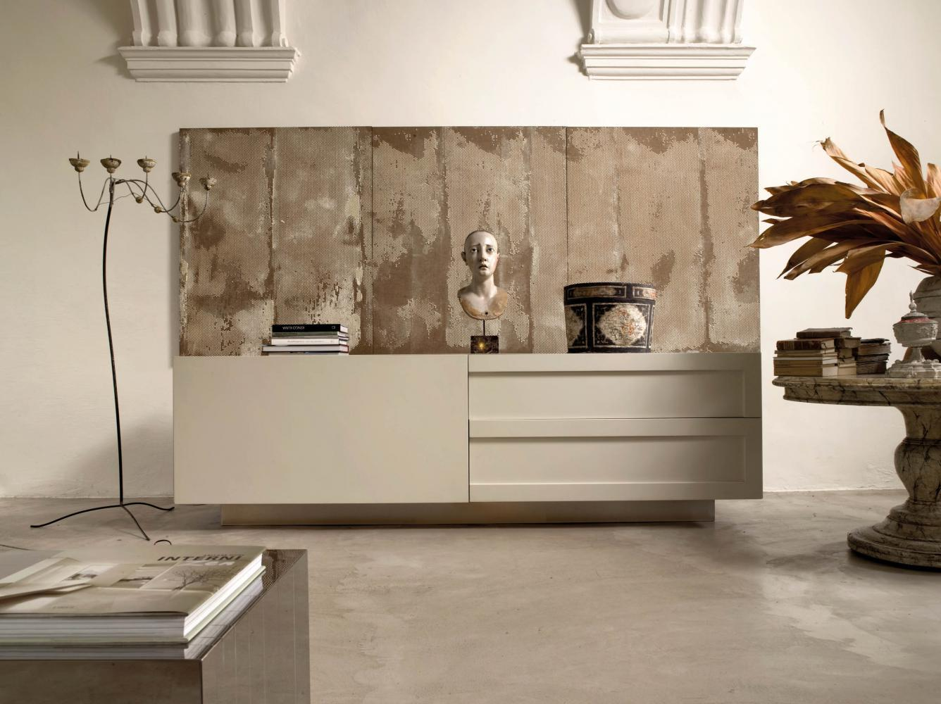 Laurameroni luxury modern artisanal wooden sideboards and drawers for contemporary interior decor and design