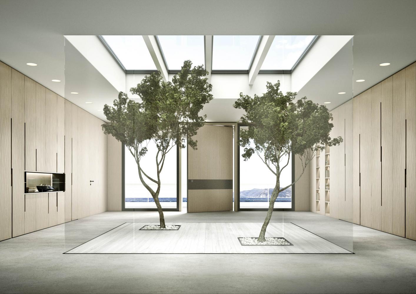 laurameroni onda day system in wood for luxury livingroom interior design