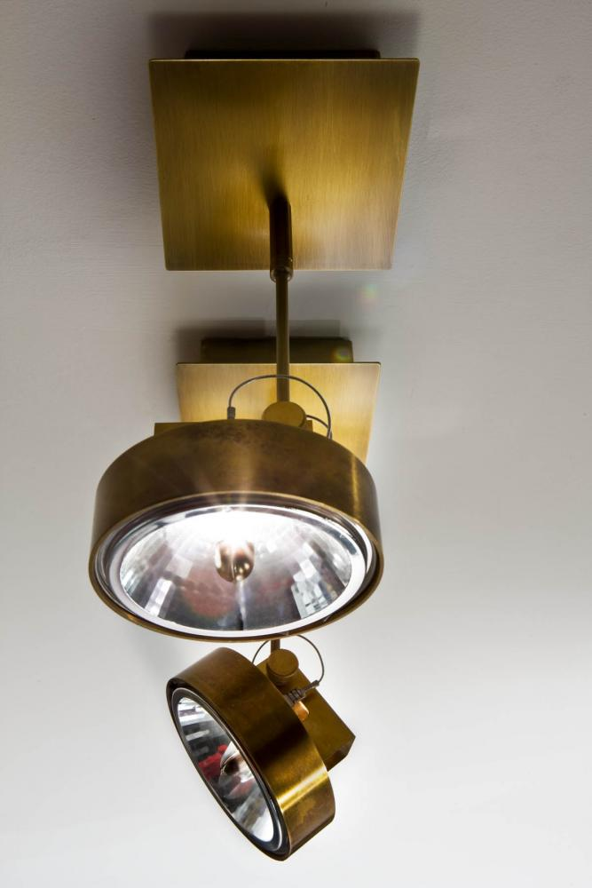 Modern ceiling or wall led spotlight work light MA 01 in burnished brass