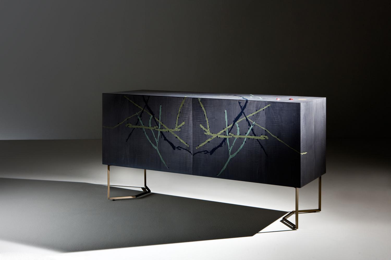 Fausta Squatriti Inverno intarsia sideboard limited edition