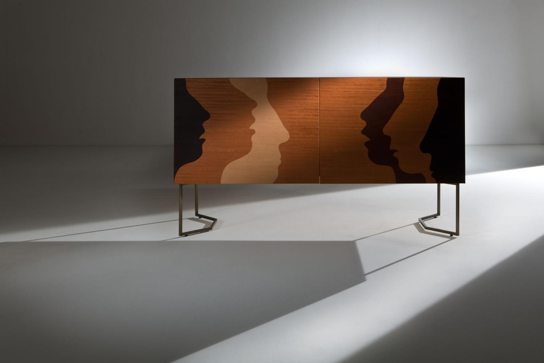 Robert Hromec Silenzio intarsia sideboard limited edition