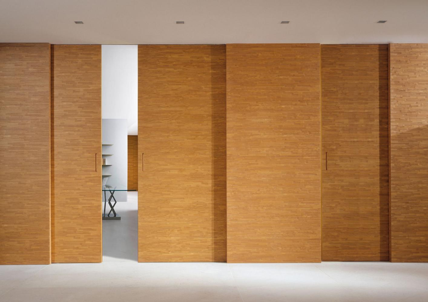 Merveilleux Decor Sliding Door, Carved On Both Sides With The Handle Hollowed Out In  The Door Thickness, Can Be Combined With Wall Panelling Of The Same  Collection.