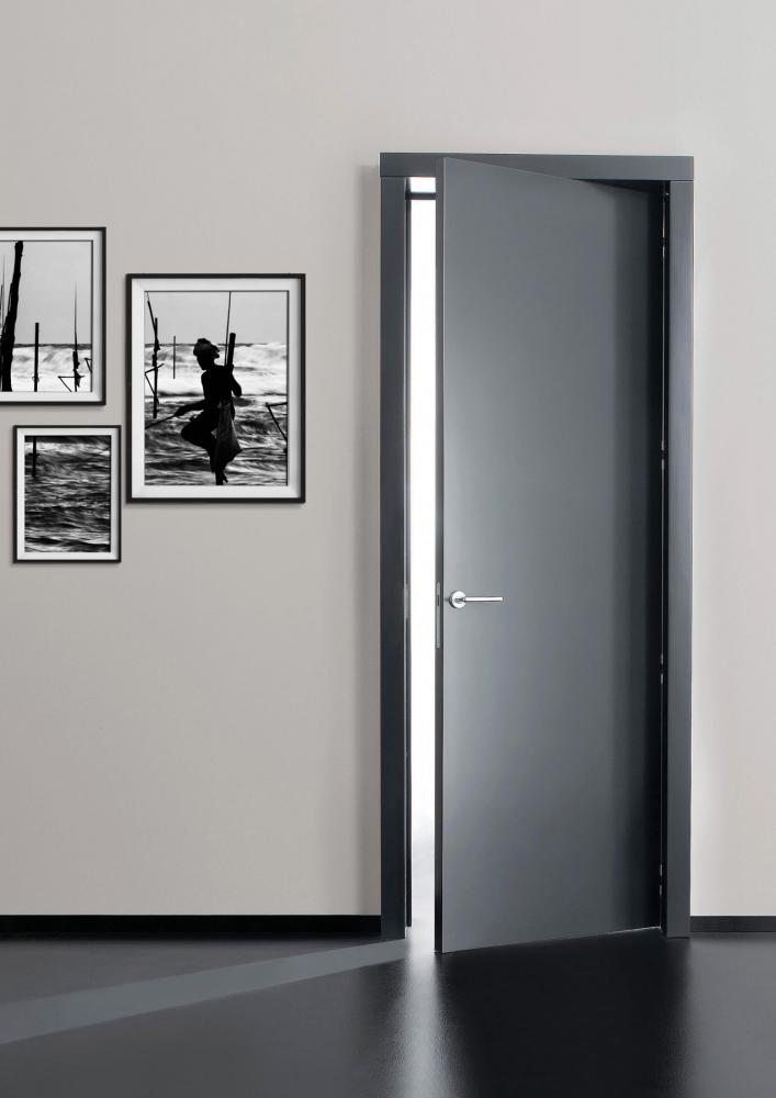 Easy Plain wood or lacquered modern minimal hinged door