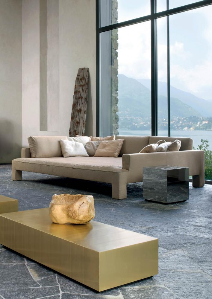 Modern living with luxury isle sofa in leather