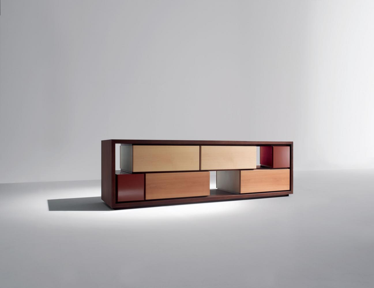 Modern customizable modular wooden sideboard