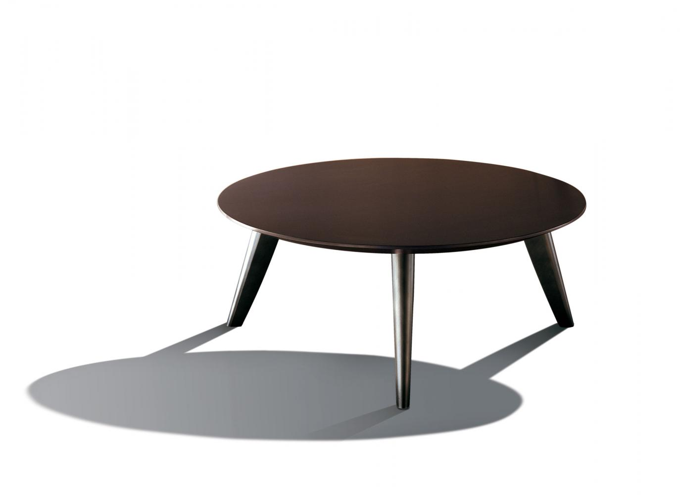 Modern luxury round table with wooden top and bronze legs