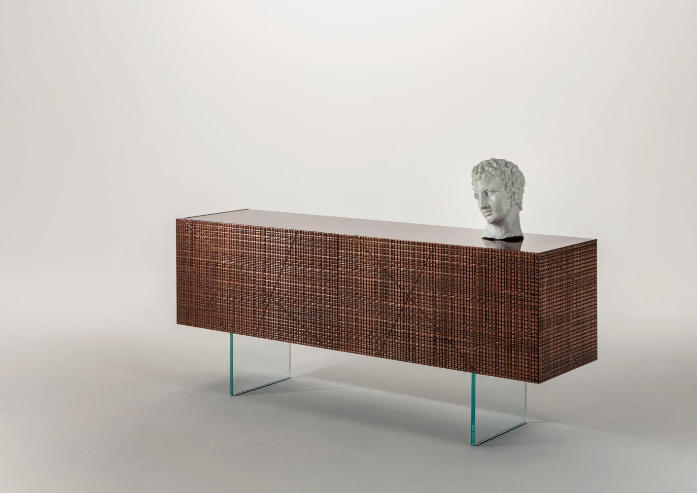 Laurameroni 20th Anniversary Luxury Sideboard BD 51 in special Liquid Metal finish