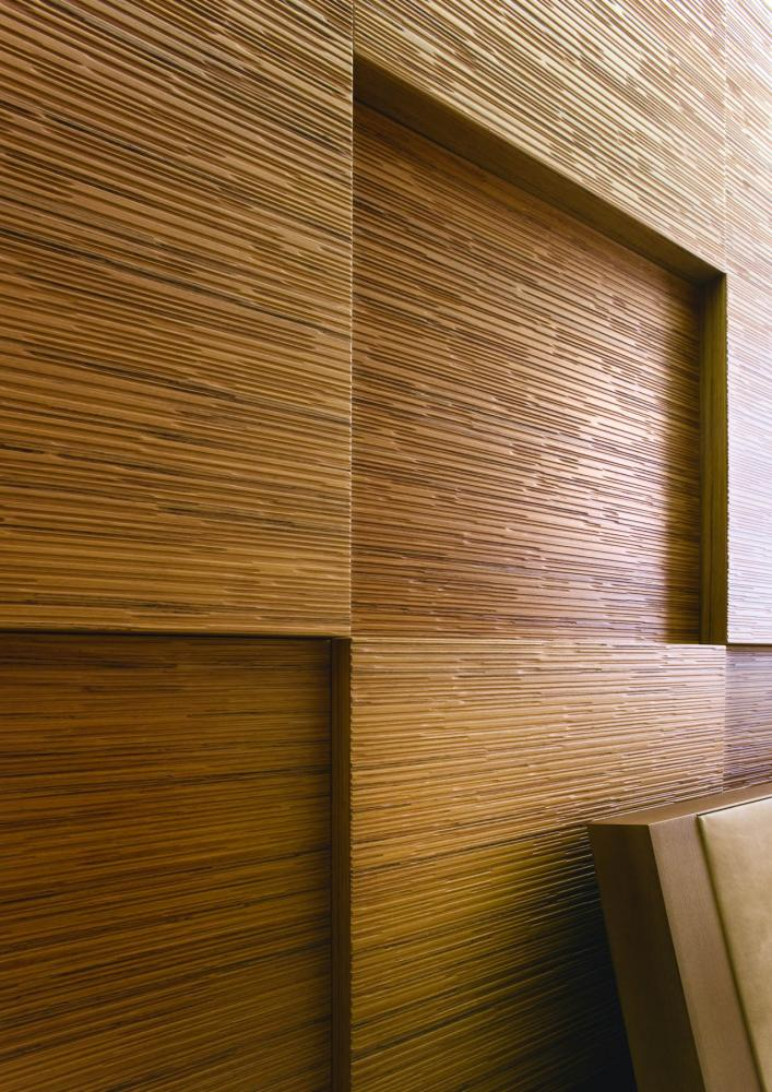 laurameroni decor texture wall panel in teak wood