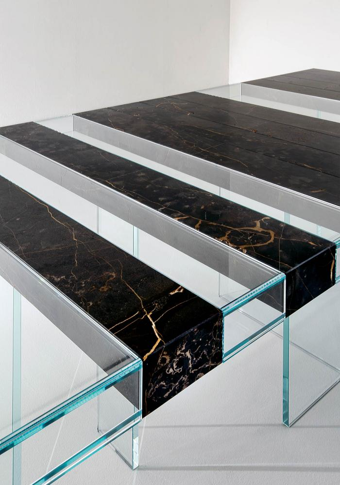laurameroni detail of elemento modular table in marble port saint laurent