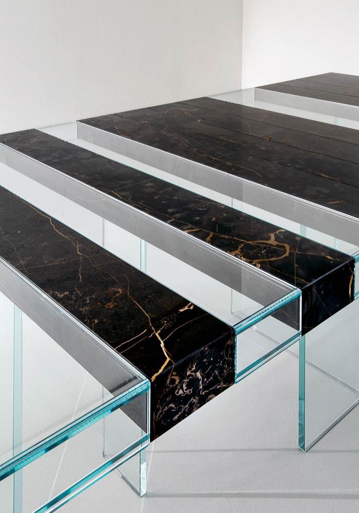 laurameroni detail of elemento modular table in marble port saint laurent