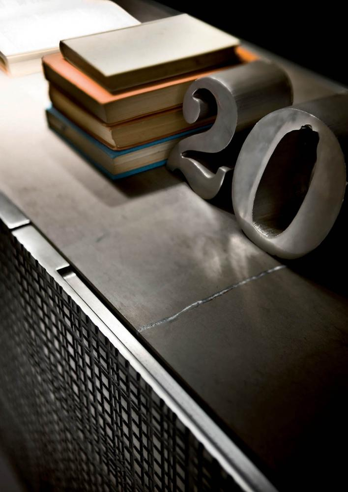 detail of maxima sideboard in liquid metal