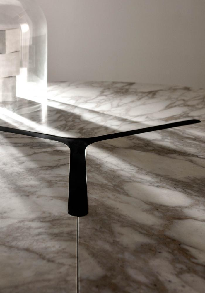 Modular Luxury Table In Marble And Wood