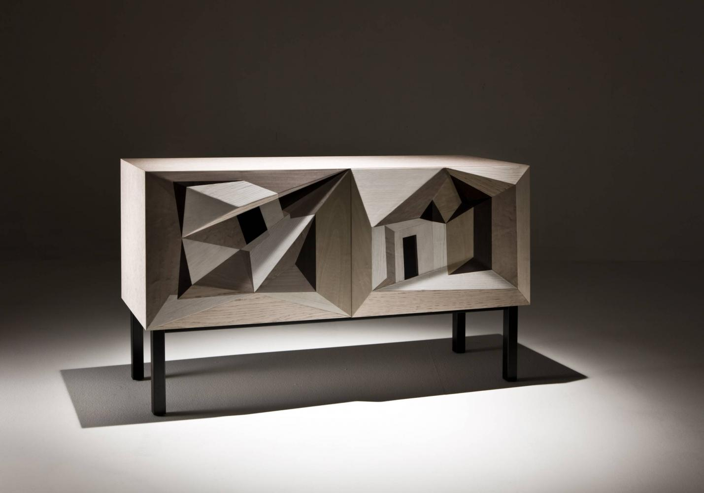 Marcello Jori intarsia sideboard limited edition