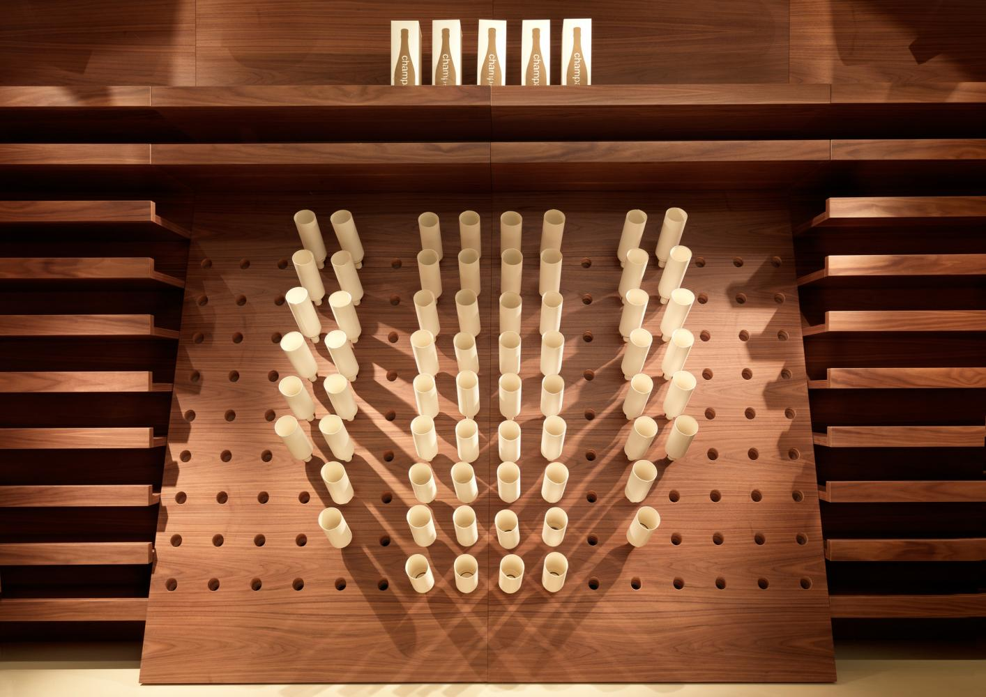luxury bespoke wine rack in wood