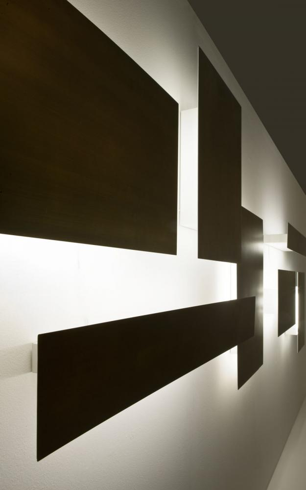 Wall or ceiling mordern modular led lighting system in brass