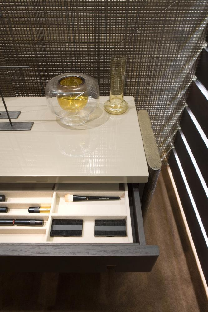 laurameroni make up table with drawers made of wood