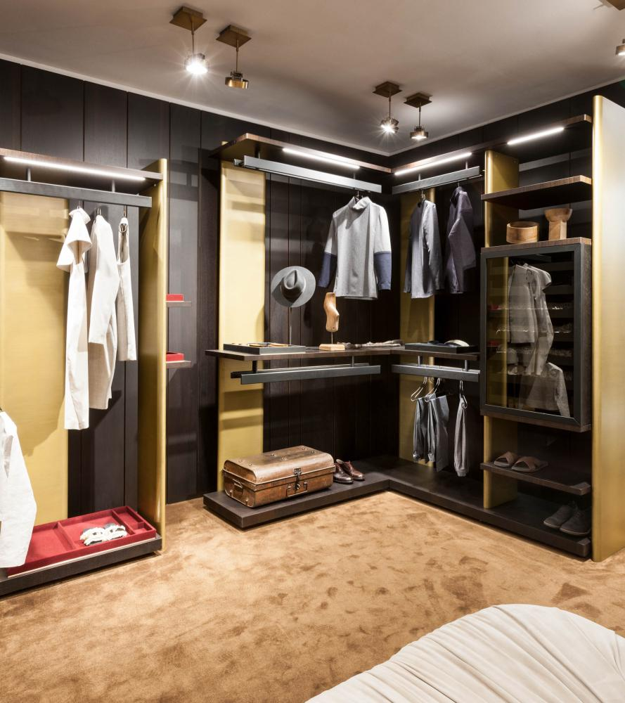 laurameroni exclusive walk-in closet freestanding element system for luxury home, villas and apartments