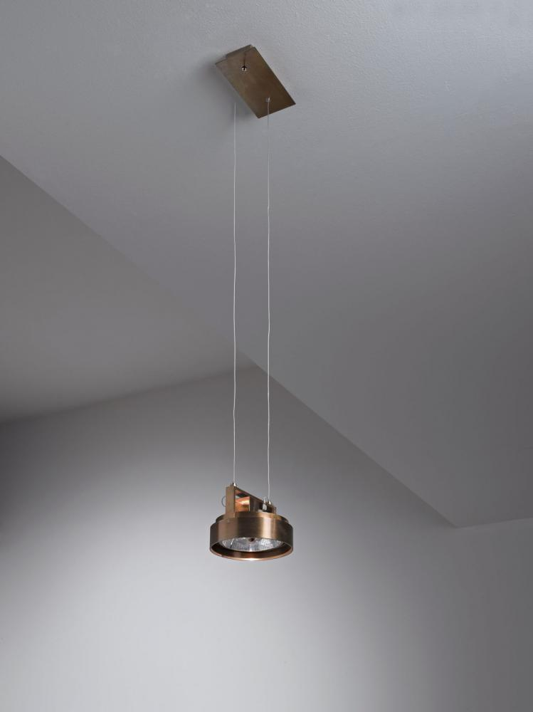 Modern luxury ceiling led spotlight work light MA 05 in burnished brass