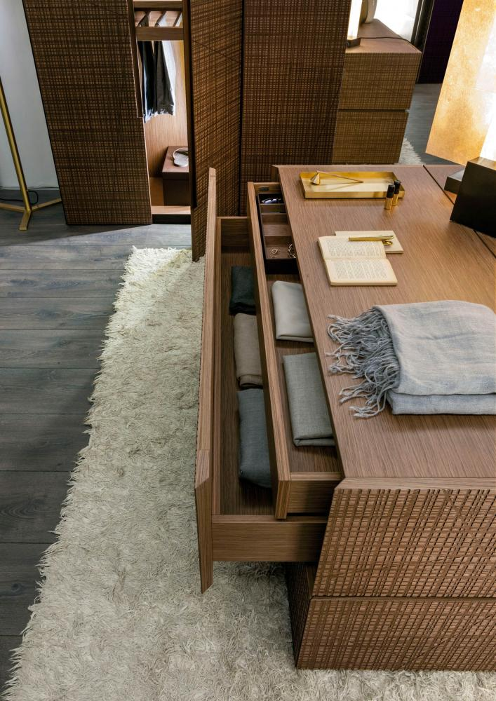 Custom made wooden wardrobe with maxima textured hinged doors