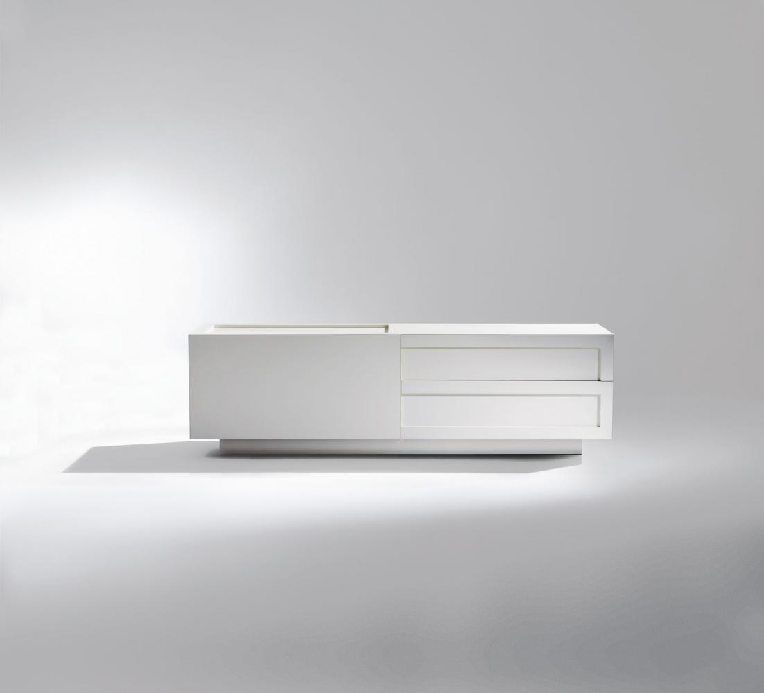 Custom made modern design sideboard in white lacquered color