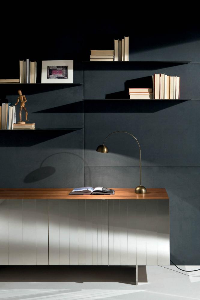 Laurameroni plain wall panels in wood or fabric for a luxury interior design