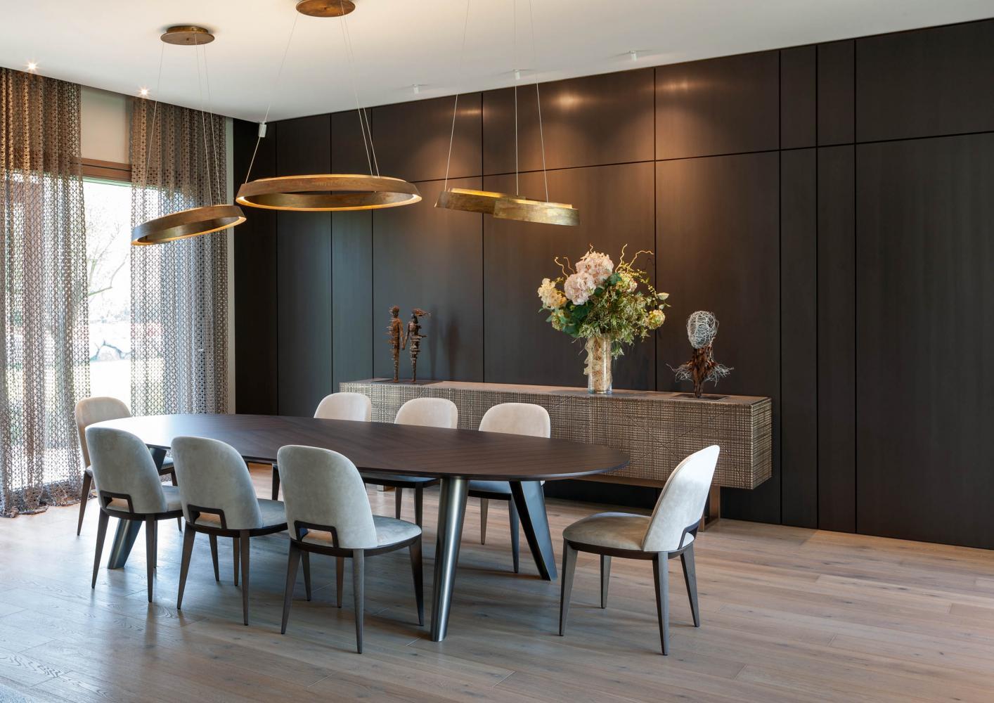 Luxury private villa in Como, living room interior design by Laurameroni Design Collection