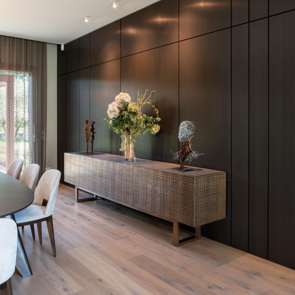 Luxury private villa in Como, modern sideboard interior design by Laurameroni Design Collection