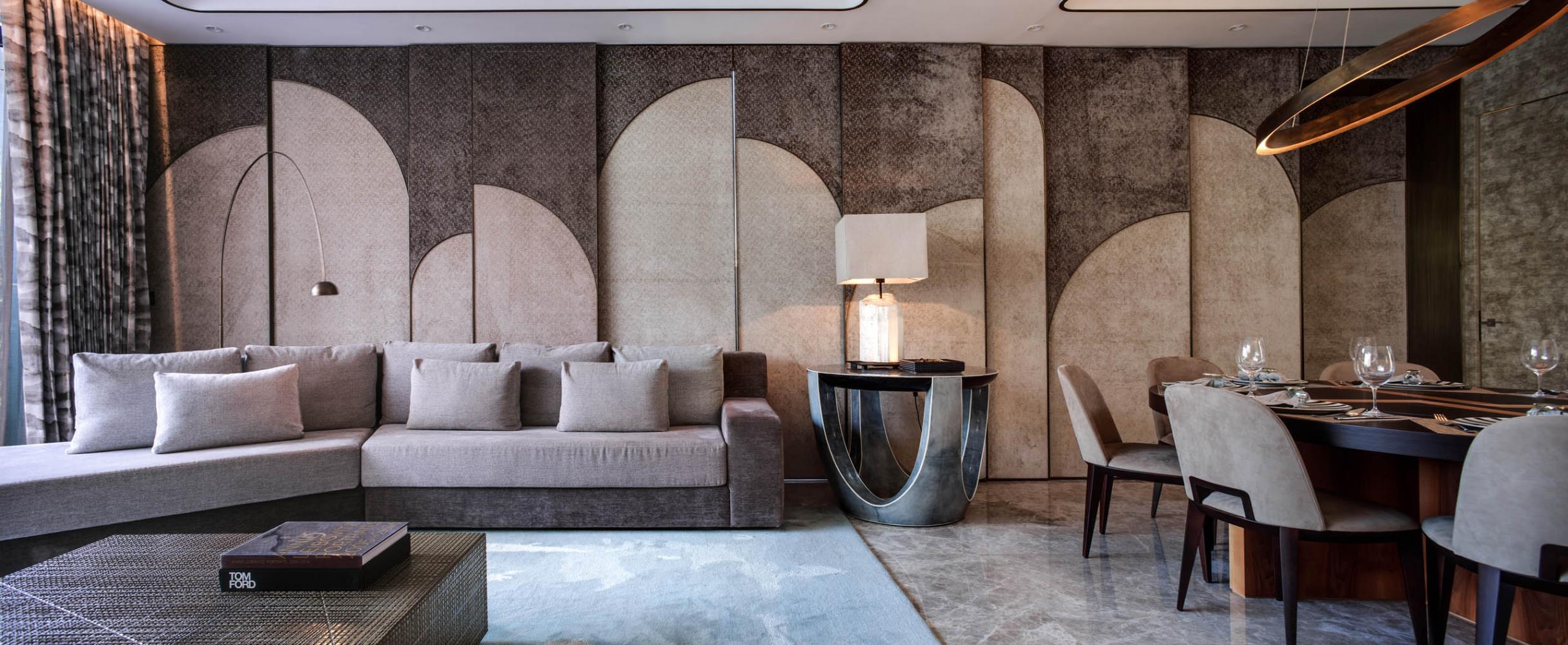 Laurameroni luxury apartment Stanley Hong Kong modern livingroom design