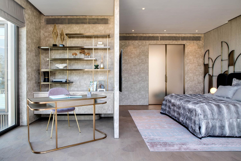 Laurameroni luxury apartment Stanley Hong Kong modern bedroom design