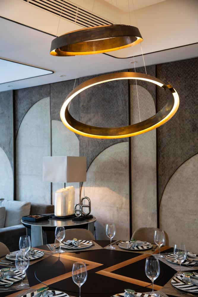 Laurameroni luxury apartment Stanley Hong Kong modern lighting decoration design